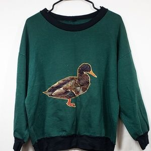 Vintage, Green, Duck Shirt, Medium